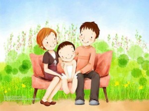 Lovely_illustration_of_Happy_family_on_sofa_wallcoo.com_